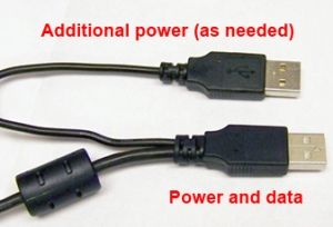 Single to Double USB cable