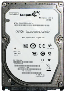 A Seagate ST9500325AS hard drive