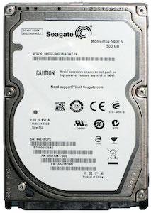 A Seagate ST9500325AS hard drive